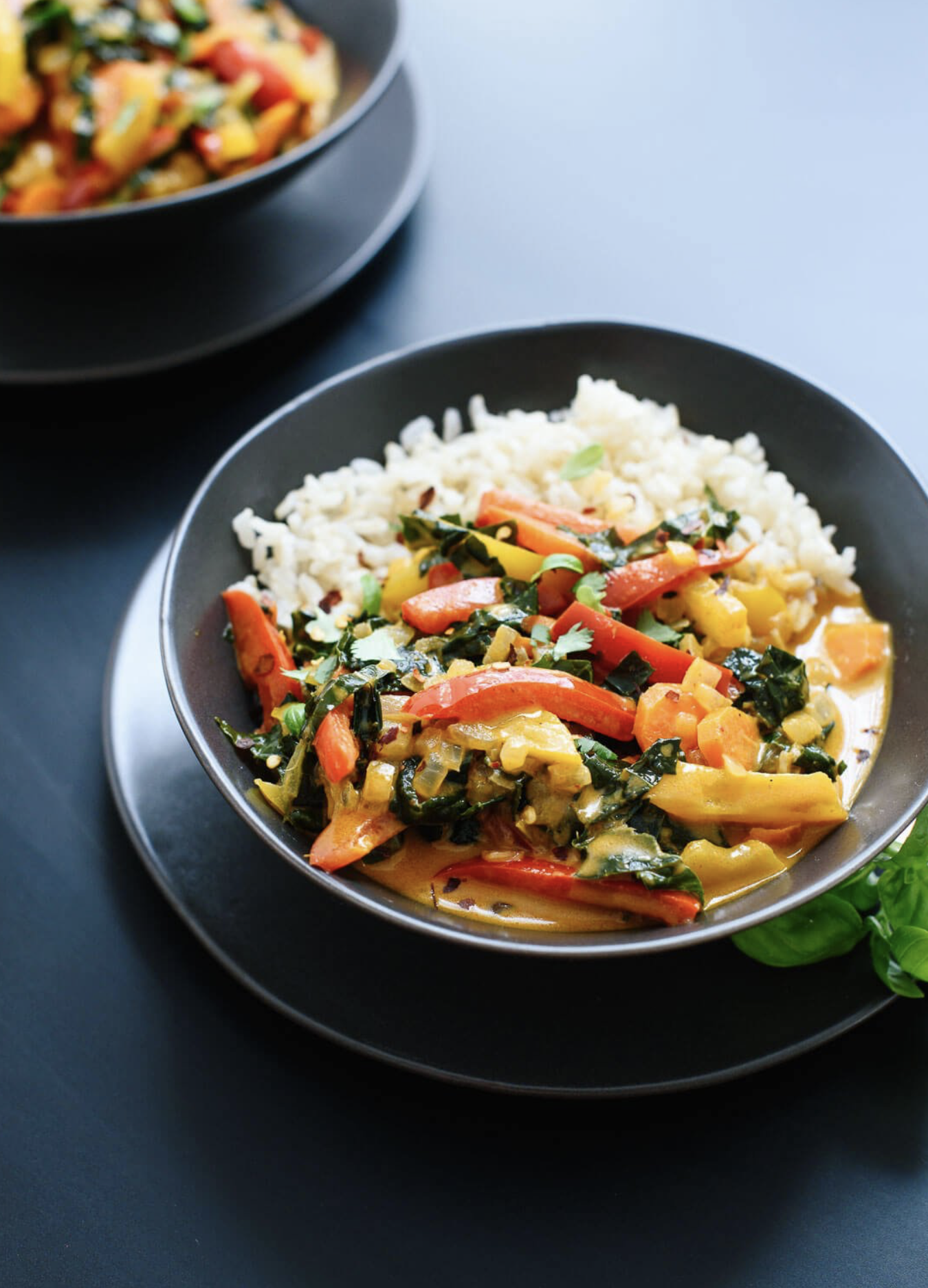 red thai curry with vegetables